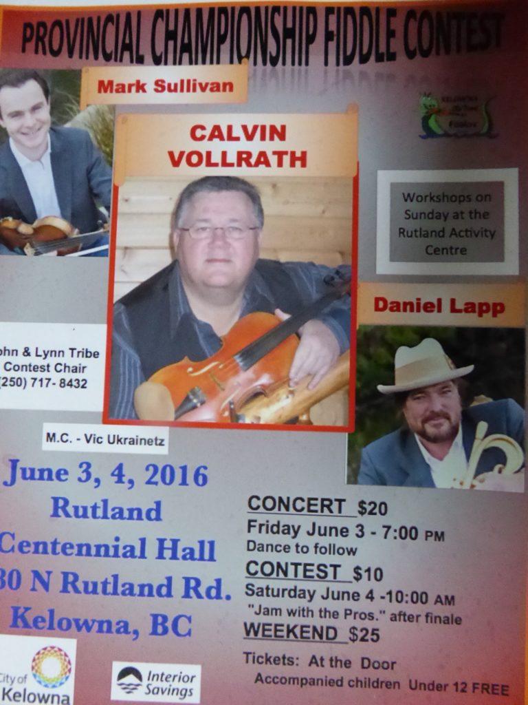 Fiddle contest 2016